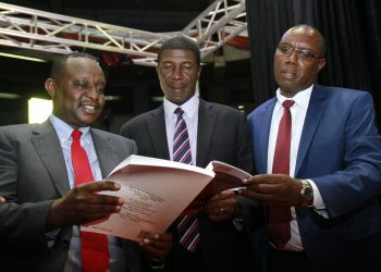 National Treasury CS Henry Rotich (L) leads the launch of Kenya's Economic Survey 2018 www.exchange.co.tz