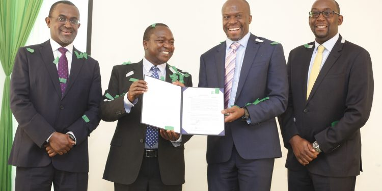 (L-R) Fanisi Capital Co-Managing Partner Tony Wainaina, Kitengela International School (KISC) Founder Paul Mwangangi, Fanisi Capital Co-Managing Partner & CEO Ayisi Makatiani and IFC - PE and Investment Funds Officer Maingi Mukando. Fanisi Capital on Thursday entered into an agreement to invest up to Sh400 million in KISC.