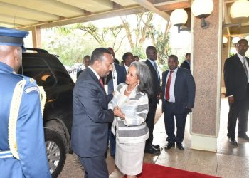 President Sahle-Work Zewde with PM Abiy Ahmed in Nairobi, Kenya. It is hoped that Ethiopia's first female President and the youthful PM will catapult country's economy to greatness www.exchange.co.tz