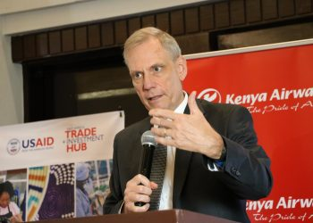 US Ambassador to Kenya Robert Godec. On October 16, the USAID Hub sponsored the US-Africa Trade Promotion Event organized by the Export Promotion Council in Nairobi where Godec said that direct flights between Kenya and the US will improve business opportunities in the US for Kenyan exporters www.exchange.co.tz