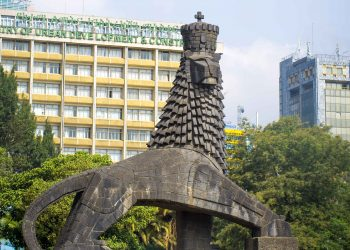 A landmark in Ethiopia's Capital, Addis Ababa. African leaders will be meeting in Addis from July 27-30 to discuss how to reduce the cost, time and complexity of interregional and international trade in goods www.exchange.co.tz
