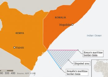 A map showing the disputed maritime border Kenya and Somalia. The Oil wealth could be pitting Somalia and Kenya against each other www.theexchange.africa