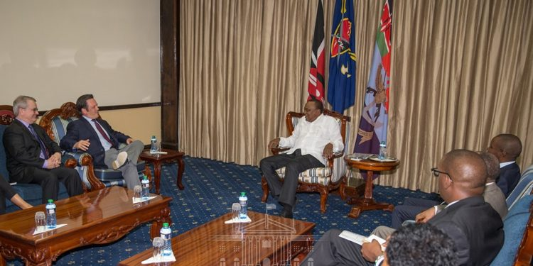 Microsoft team meets President Uhuru Kenyatta (Source: PSCU) : The Exchange