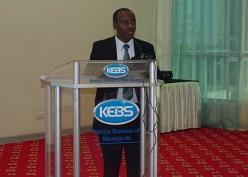KEBS Acting MD Lt.  Col.  Bernard Njiraini during the event