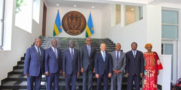 EABC Board Directors officially meeting HE Paul Kagame, President of the Republic of Rwanda