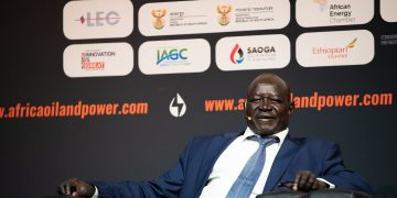 H.E.Arkangelo Okwang Oler Ojok, Director General Ministry of Petroleum, South Sudan at the Africa Oil & Power conference in Cape Town, South Africa, October 2019.