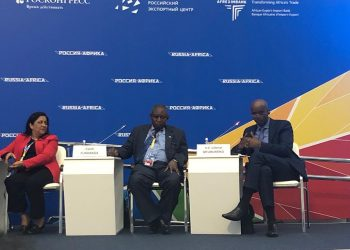East African Community Secretary General Amb. Liberat Mfumukeko, participating in the inaugural Russia-Africa Economic Summit