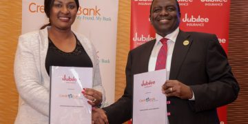 East Africa's largest insurance group, Jubilee Holdings Limited has signed a deal with Credit Bank in a move that will see the two entities launch education and investment plans through the Bancassurance model.